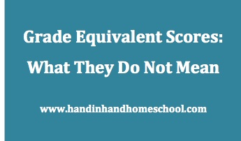 What is a grade equivalent score?