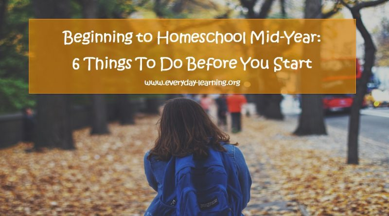 Starting homeschooling midyear
