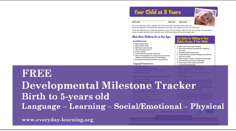 Free Developmental Milestone Tracker